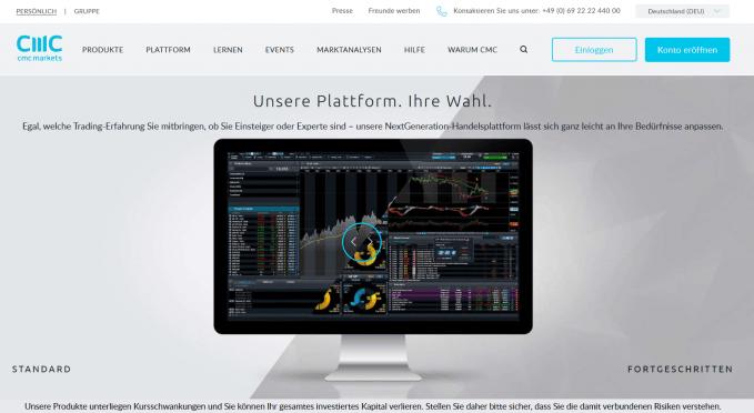 CMC Markets Plattform