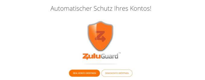 Zulutrade bietet außerdem mit dem ZuluGuard optimalen Schutz