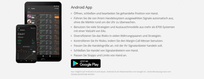 Das ist die Android App von ZuluTrade