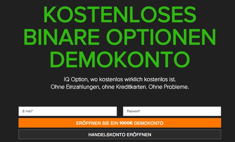 Kostenloses Demokonto beim Binäre Optionen Broker IQ Option