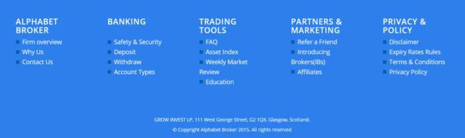 Zum Angebot von Alphabet Broker gehören auch Trading Tools