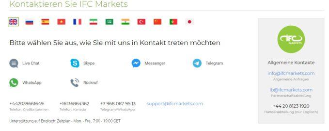 Der deutschsprachige Support ist auf verschiedene Arten erreichbar