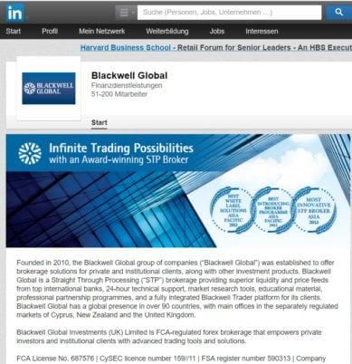 Blackwell Global ist auf sozialen Netzwerken vertreten