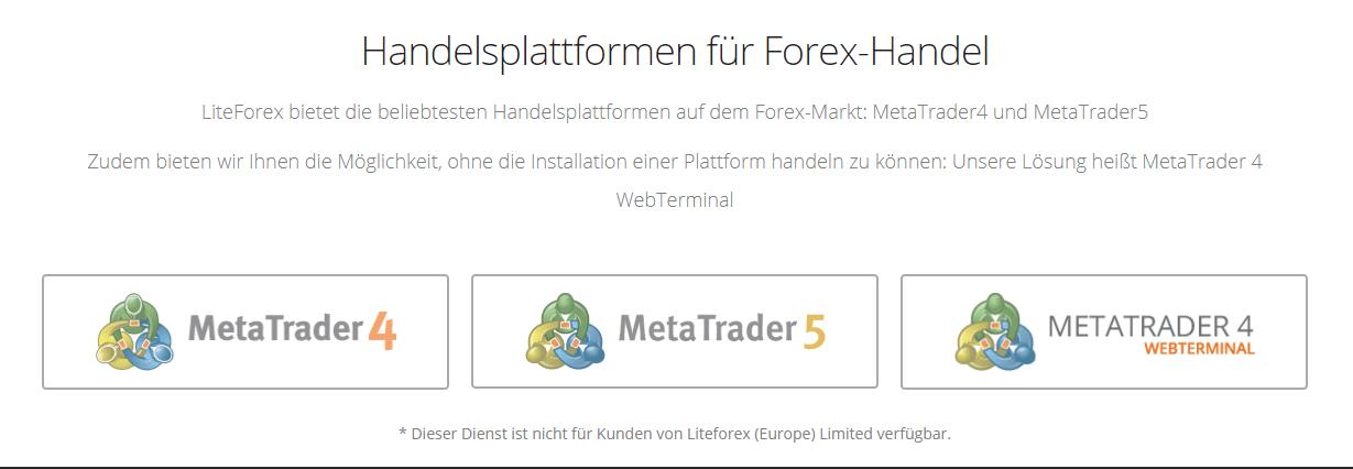 Forex handelsplattformen vergleich
