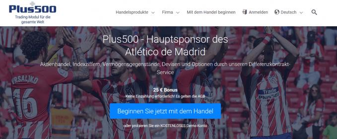 Plus500 Sponsoring