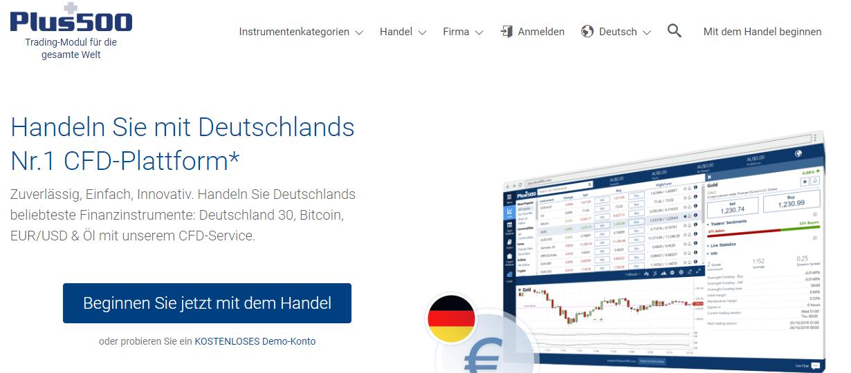 Handeln Sie mit Deutschlands Nr1. CFD- Plattform