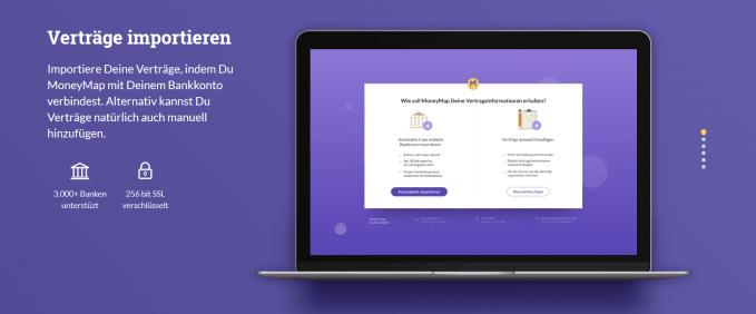 MoneyMap Registrierung