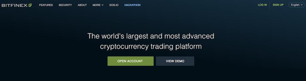 Bitfinex Webseite
