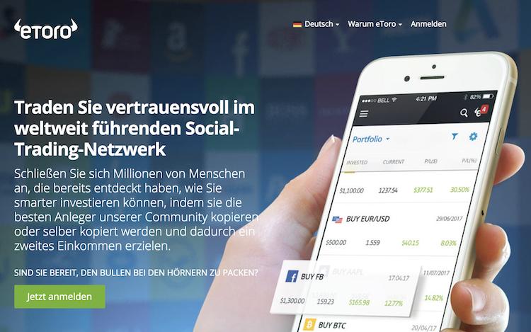 eToro Webseite