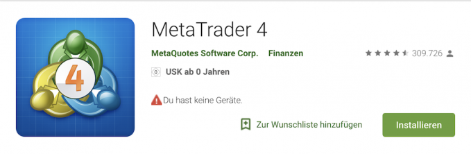 RoboMarkets MetaTrader Android