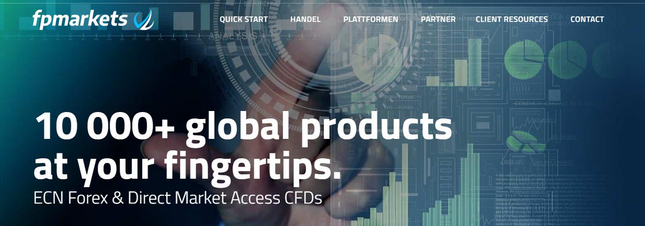 FP Markets bietet über 10.000 Produkte an
