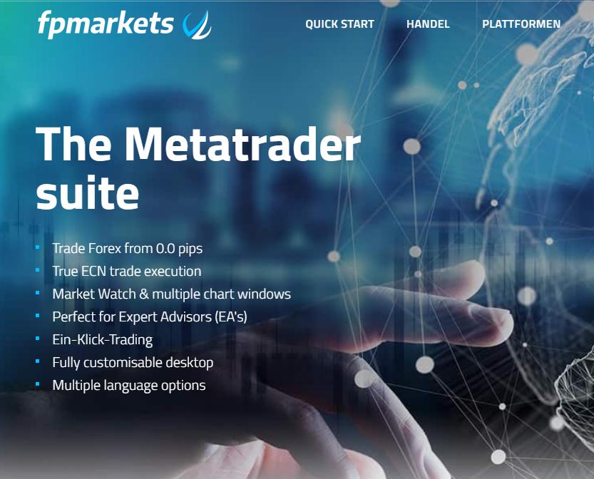 Die Metatrader Suite von FP Markets
