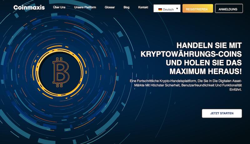 Die Homepage von dem Online-Broker